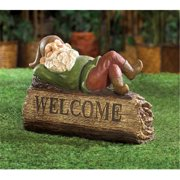 Zingz & Thingz Snoozing Gnome Garden Welcome Sign