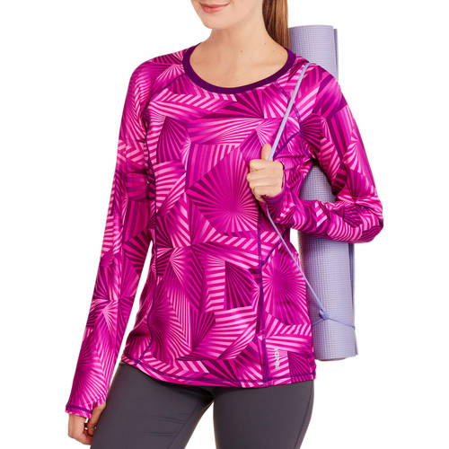 AND1 Women's Triumph Long Sleeve Performance Top Printed