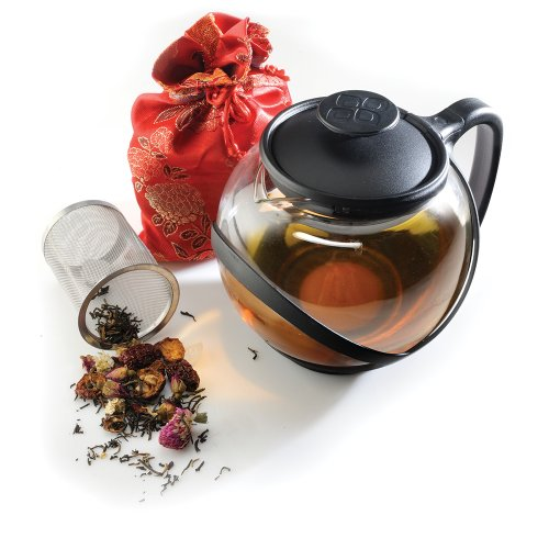 Primula Teas Of The World Tea Set - 1.25 Quart Teapot, Infuser - Borosilicate Glass, Stainless Steel Infuser, Plastic (ptw2304dst)