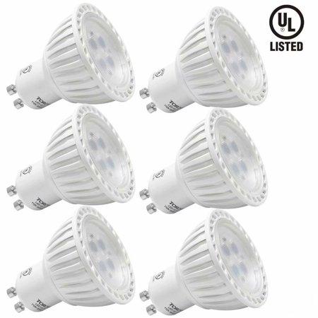 6 Pack MR16 GU10 LED Light Bulb, 5W LED Bulbs, 2700K Soft White