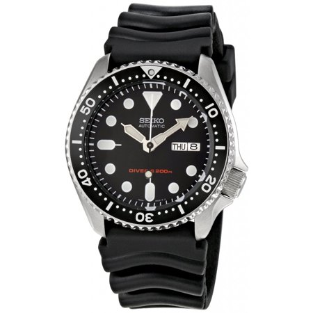 Seiko Black Strap (Men's Automatic SKX007K Black Rubber Japanese Sport Watch )