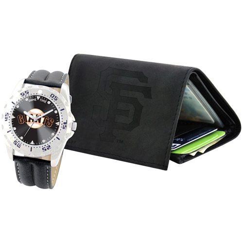 Game Time MLB Men's San Francisco Giants Watch and Tri-Fold Wallet Set, Black