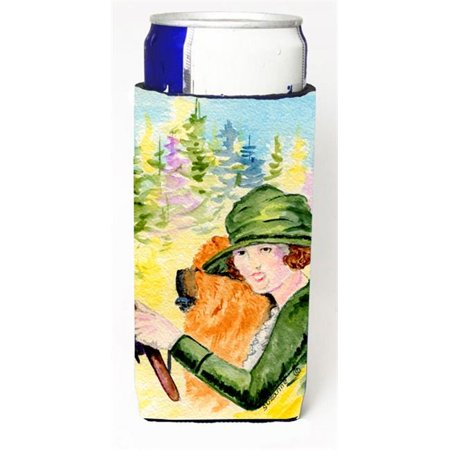 Lady Driving With Her Chow Chow Michelob Ultra bottle sleeves For Slim Cans - 12 oz. - image 1 de 1