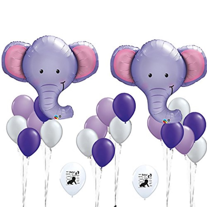Combined Brands Elephant Party Balloons HUGE 39 inch Tall Great for Baby Shower or Welcome Home to Nursery Decorations