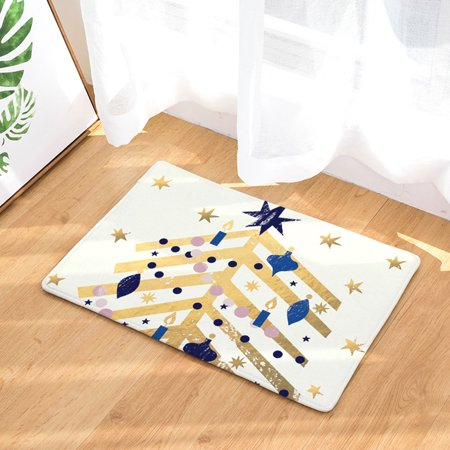 Christmas Home Non Slip Door Floor Mats Hall Rugs Kitchen Bathroom