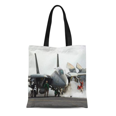 HATIART Canvas Tote Bag Tomcat F 14 Reusable Handbag Shoulder Grocery Shopping Bags - image 1 de 1