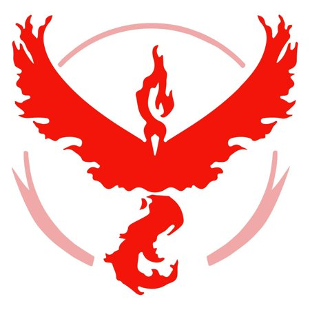 2 x Red Team Valor Pokemon GO Decal Graphic Vinyl Die Cut Stickers Large 4 x 4""