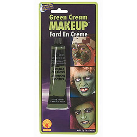 Halloween Sparkly Makeup (Green Cream Makeup for)