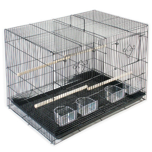 Prevue Pet Products Divided Flight Cage - Black
