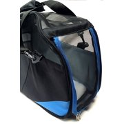 Pet Carrier Soft Sided Cat / Dog Comfort Travel Tote Bag Blue and Black Pet Bag