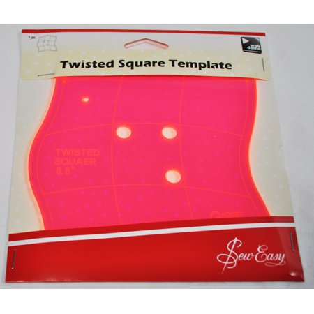 Sew Easy 6.5 Inch Twisted Square Quilt Template ERGG03.PNK