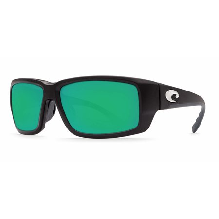 Costa Del Mar Fantail TF 11GF Matte Black Global Fit Sunglasses Green Lens (Costa Del Mar Fantail Sunglasses)