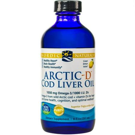 Nordic naturals arctic cod liver oil lemon 8 oz for Cod fish walmart