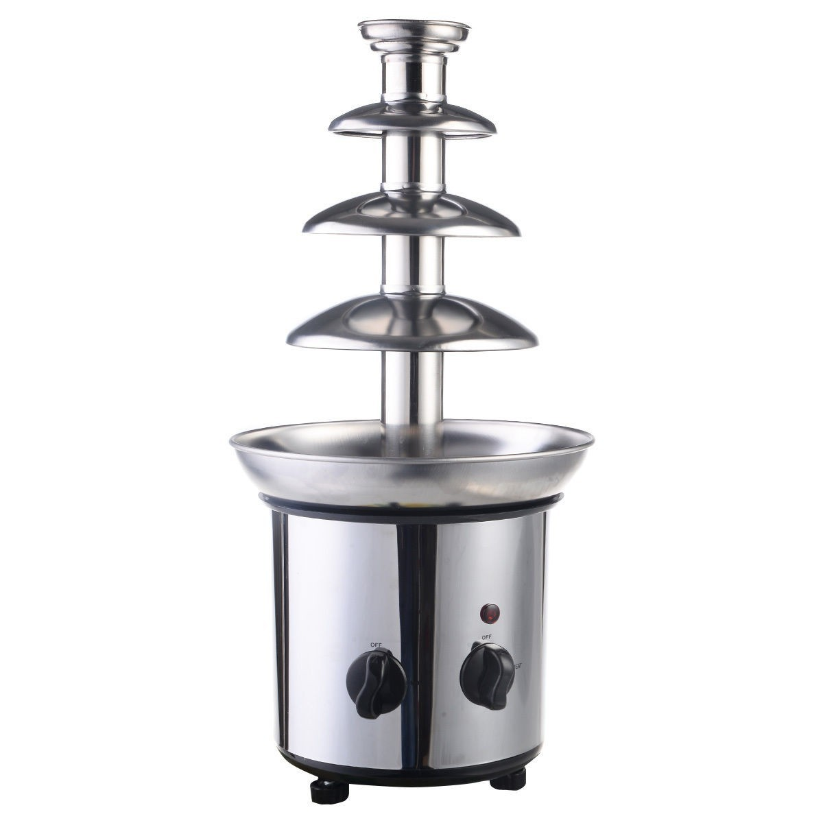 4 Tiers Commercial Stainless Steel Hot New Luxury Chocolate Fondue Fountain by Apontus