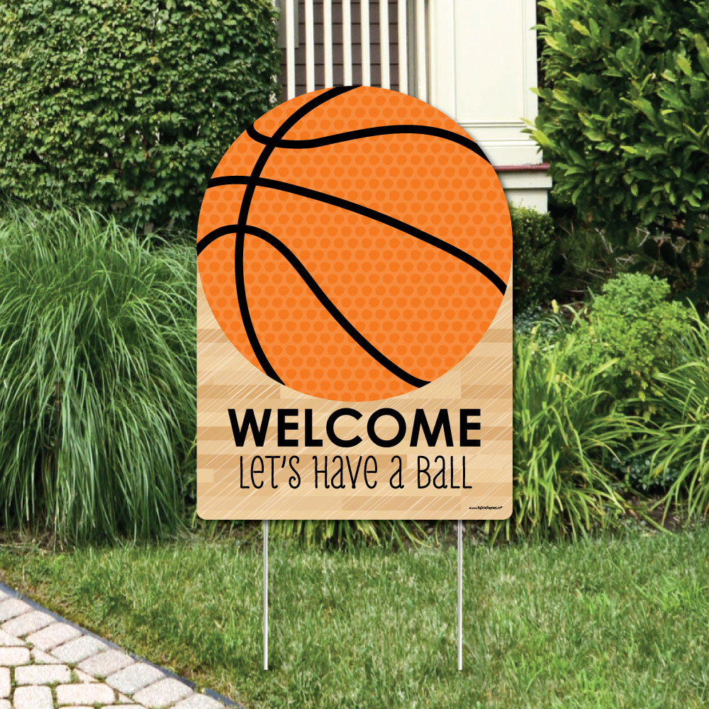 Nothin' But Net - Basketball - Party Decorations - Birthday Party or Baby Shower Welcome Yard Sign