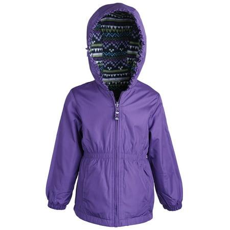 155a32315e6b London Fog Little Girls Fleece Lined Waisted Windbreaker Jacket with ...