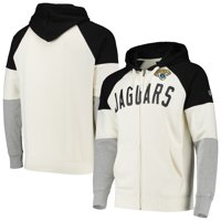 Jacksonville Jaguars Hands High Point Check French Terry Raglan Full-Zip Hoodie - White/Black