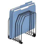 Fellowes Wire File Organizer, 7 Comp, Steel, 7 3/8 x 5 7/8 x 8 1/4, Black