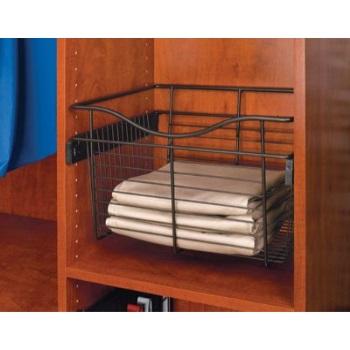 Rev-A-Shelf Pull-Out Closet Basket 18W x 14D x 7H Oil Rubbed Bronze