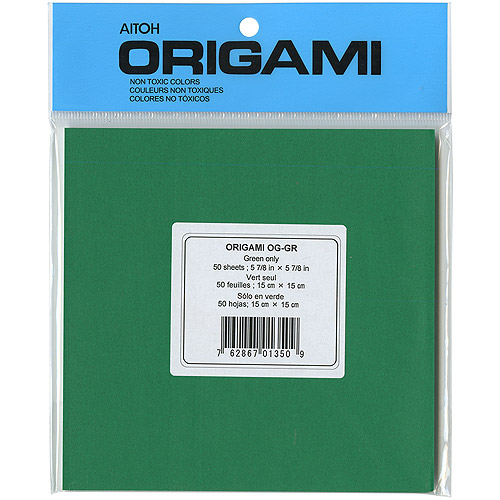 "Origami Paper 5.875"" x 5.875"", 50pk, Green"