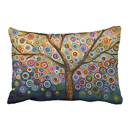 WinHome Decorative Love Tree Wave Polka Dot Cute Adorable Custom Soft Pillow Case Cover Best Christmas Birthday Gift For Kids Child Boy Girl Son Daughter Nephew Niece Size 20x30