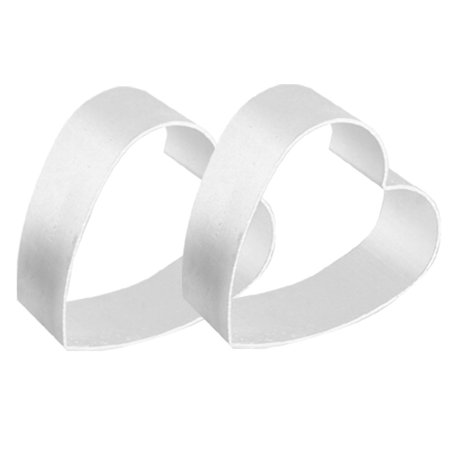 Halloween Themed Cakes And Biscuits (Unique Bargains Bakery Aluminum Alloy Heart Cookie Biscuit Cutters Silver)