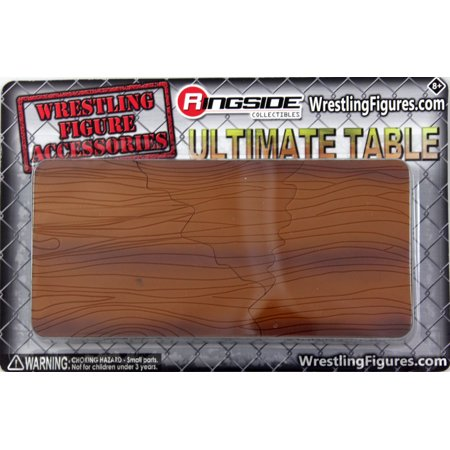 Collectible Wrestling Figure - Ultimate Table (Wooden) - Ringside Collectibles Exclusive Toy Wrestling Action Figure Accessories