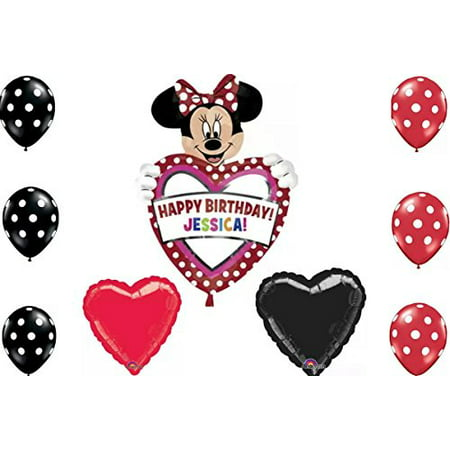 Disney Minnie Mouse Happy Birthday Personalize Your Childs Name Balloon - Personalize Balloons