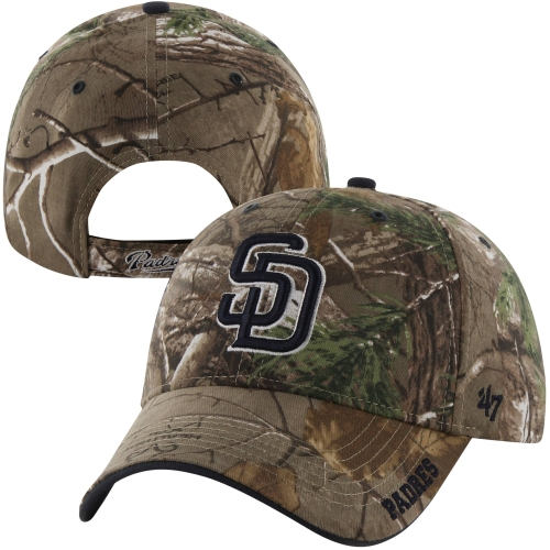 '47 Brand San Diego Padres Cleanup Adjustable Hat - Realtree Camo - OSFA
