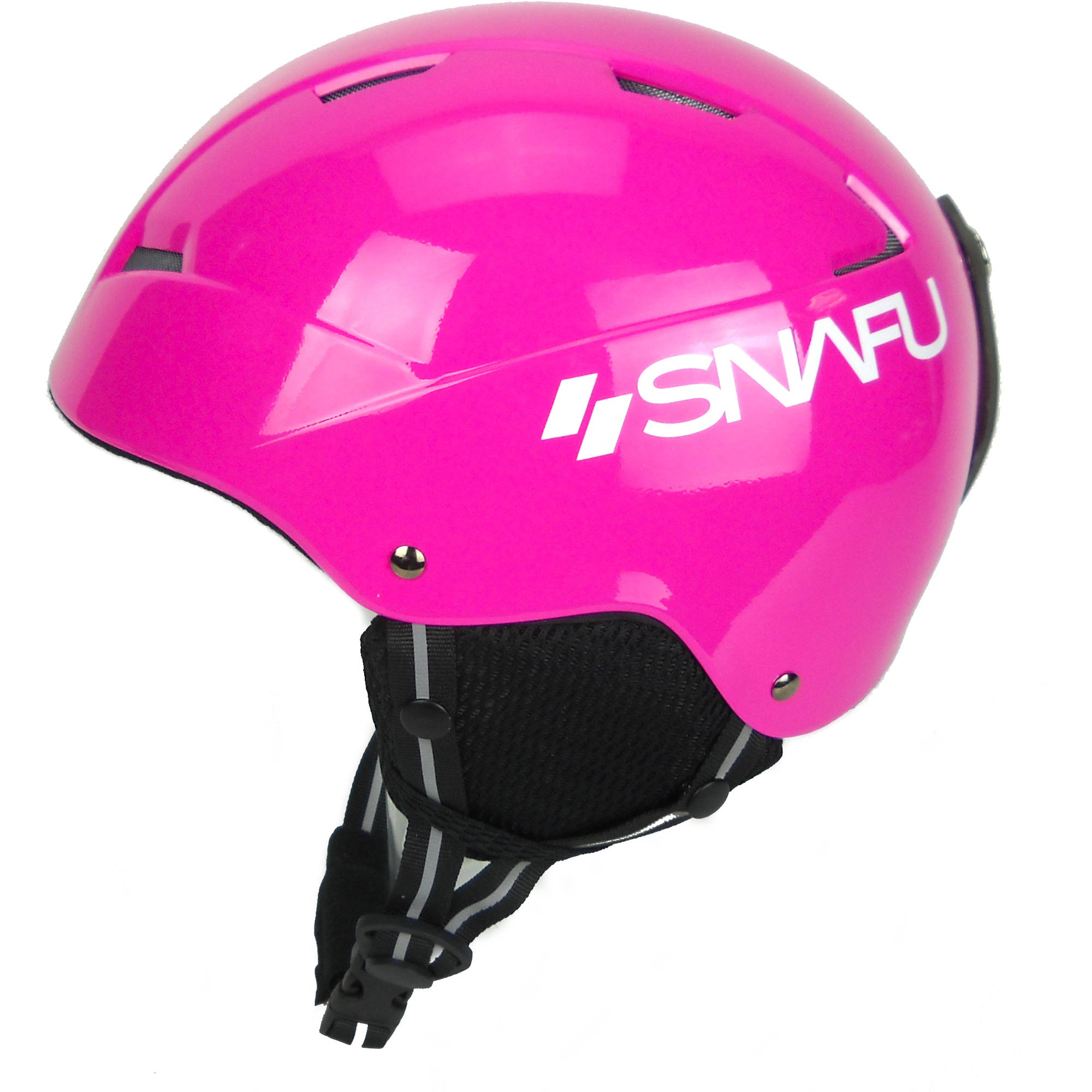 SNAFU Winter Sports Helmet, Gloss Pink, XS by