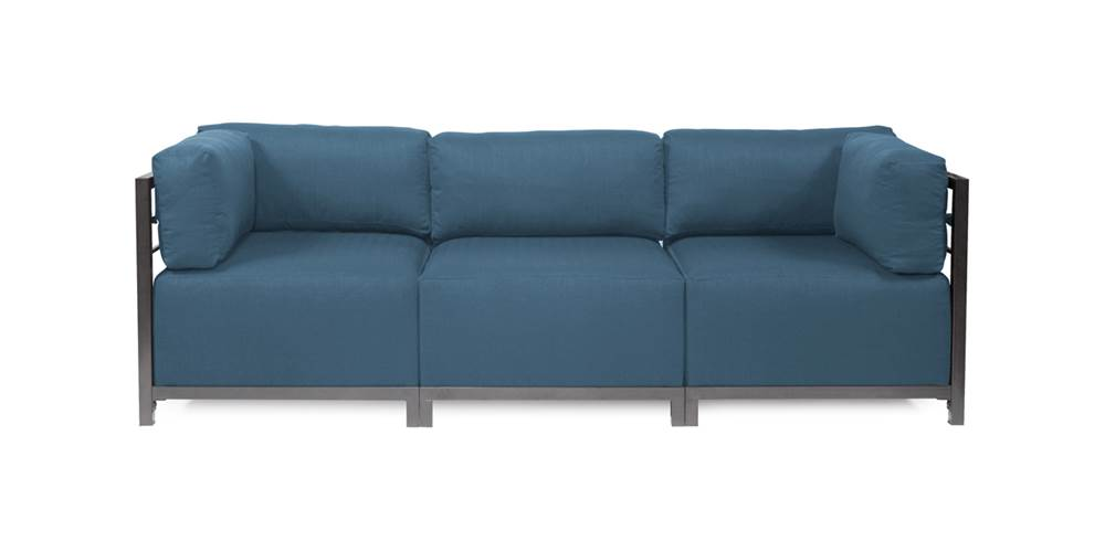 3-Pc Sectional in Seascape Turquoise by Howard Elliott Collection