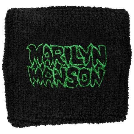 Marilyn Manson Men's Logo Athletic Wristband Black - Marilyn Manson Halloween Mix