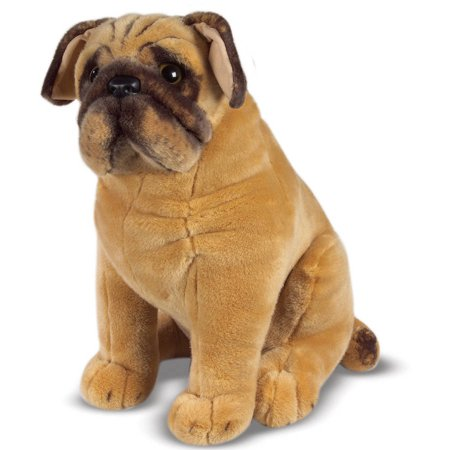 Melissa & Doug Pug Dog - Lifelike Stuffed Animal