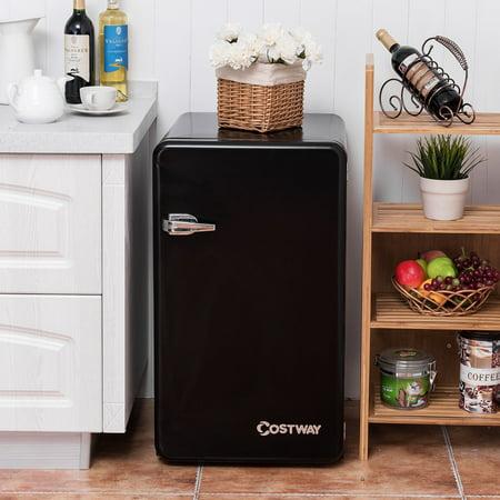 3.2 Cu Ft Retro Compact Refrigerator w/ Freezer Interior Shelves Handle - image 5 of 10