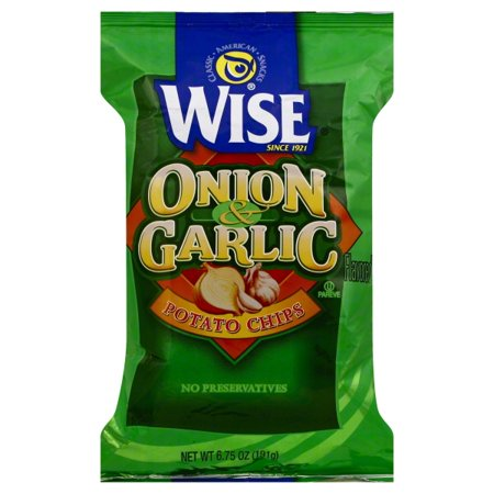 Wise Potato Chips (Wise Onion & Garlic Flavored Potato Chips, 6.75 Oz.)