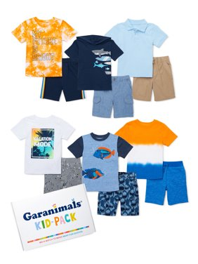 Garanimals Toddler Boy Mix & Match Outfits Kid-Pack Gift Box, 12pc set (12M-5T)