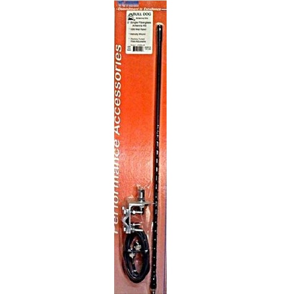 ProComm HSS995-4B 4' Single Black Fiberglass CB Antenna Kit