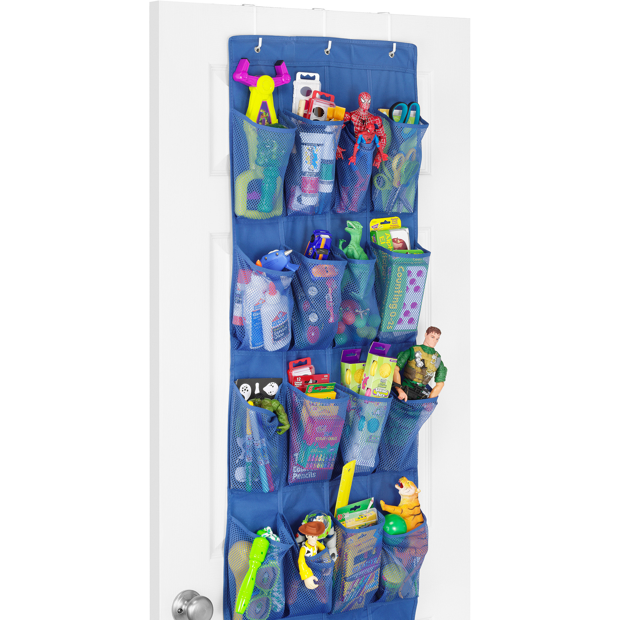 Whitmor Blue Over-the-Door Shoe Organizer