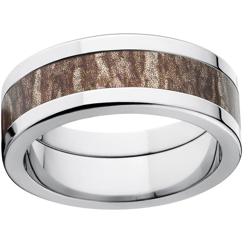 mossy oak bottomland men's camo 8mm stainless steel wedding band
