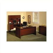 Bush Northfield 4-Piece Executive Computer Desk Set in Harvest Cherry