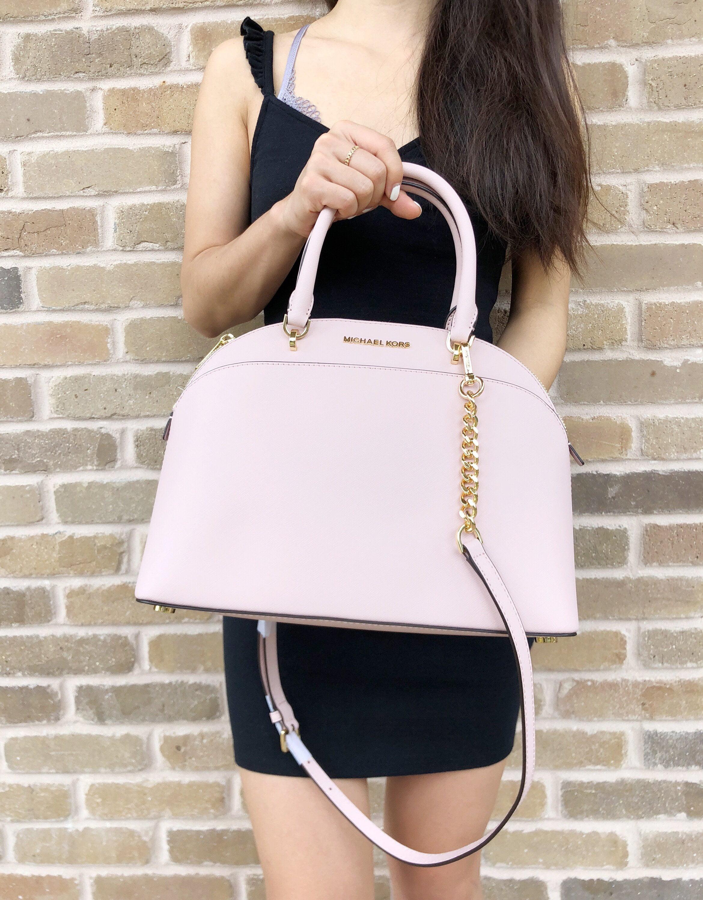 1ffcfe7eca4f Michael Kors Emmy Large Cindy Dome Satchel Bag Blossom Pink - Walmart.com