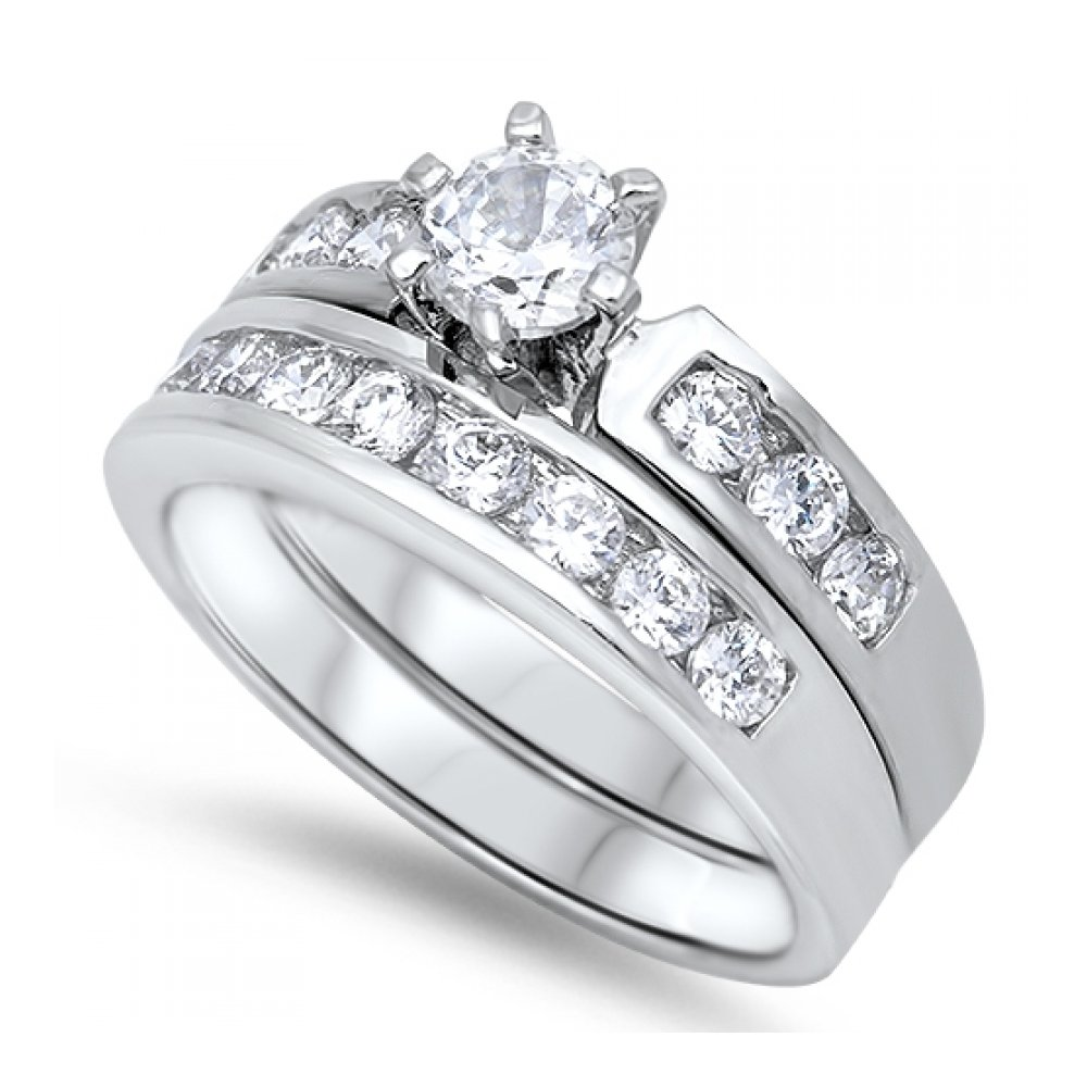 925 Sterling Silver Wedding Ring Sets