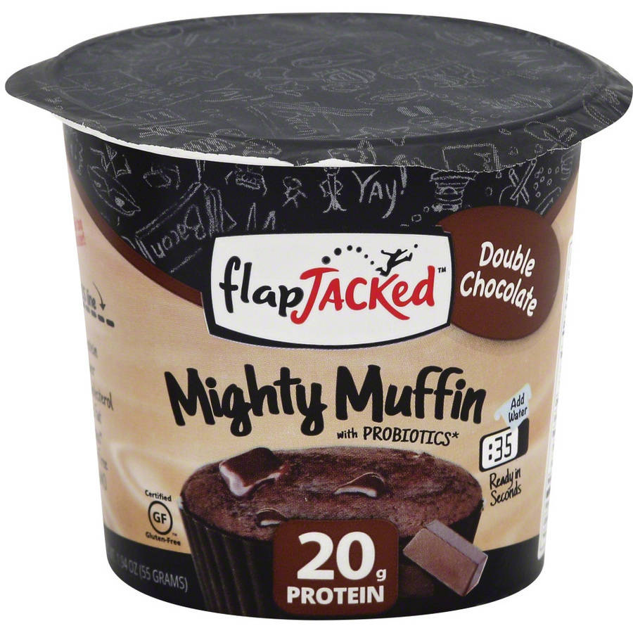 Flapjacked Mighty Muffin Double Chocolate, 1.09 oz, (Pack of 12) by