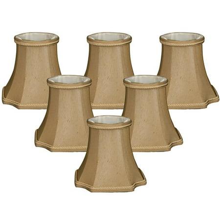 Alcott Hill 5'' Shantung Bell Candelabra Shade (Set of (Floral Candelabra Shade Sets)