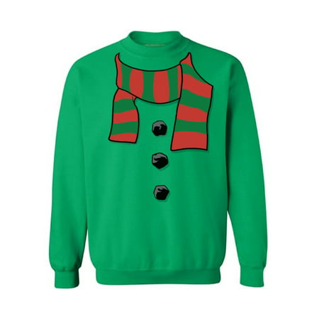 Ugly Christmas Sweatshirt Snowman Scarf Ugly Christmas Sweater Merry Christmas Pullover Xmas Gifts Holiday Sweatshirt mens ugly Christmas sweater womens Christmas sweaters Snowman Scarf Sweatshirt](Ugly Sweater Theme)