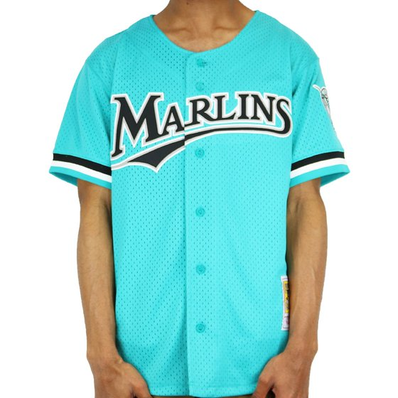 477d5f516a0 Andre Dawson Florida Marlins Mitchell   Ness Fashion Cooperstown Collection  Mesh Batting Practice Jersey - Teal - Walmart.com