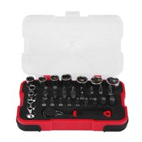 OTVIAP 37Pcs Screwdriver Ratchet Wrench Socket Set Torx Bit Kit Car Repair Tool, Socket Set, Ratchet Wrench Socket Kit