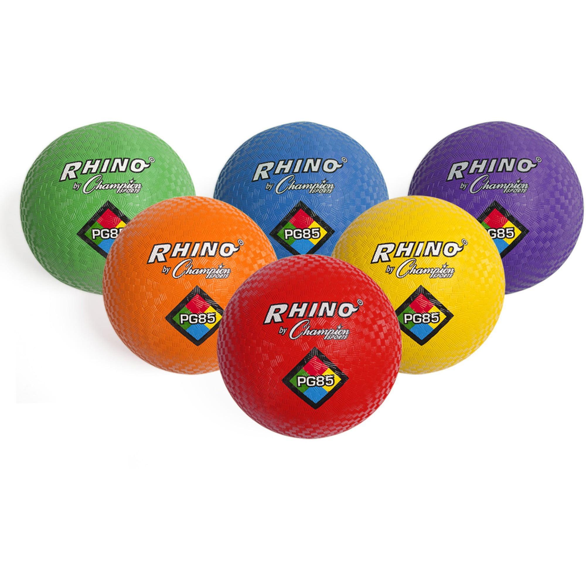 Champion Sport, CSIPGSET, s Playground Ball Set, 6, Assorted,Red,Yellow,Green,Orange,Purple
