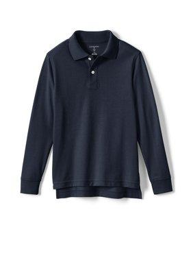 Lands' End Boys 4-20 School Uniform Long Sleeve Sleeve Pique Mesh Polo Shirt