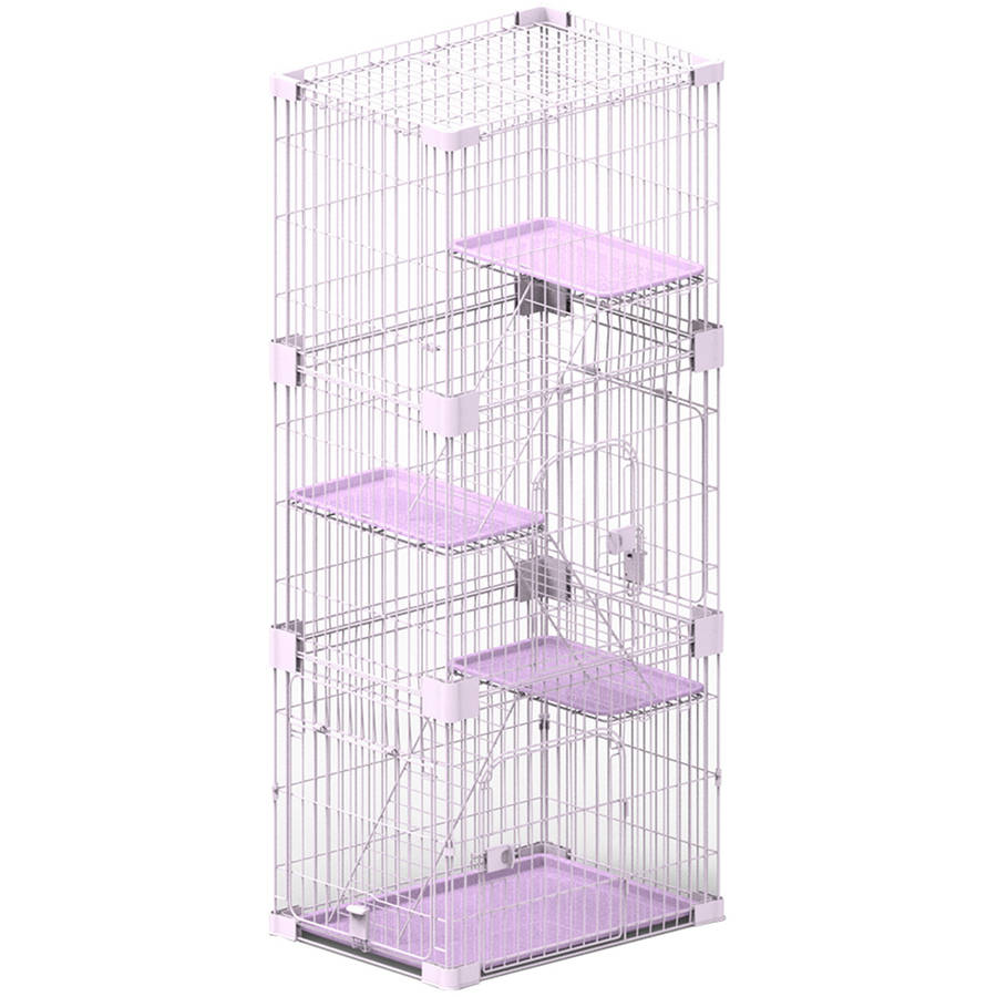 PetPals Wirehouse-3Levels Pink 3 Levels Cat Cage